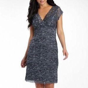 Onyx Dresses & Skirts - Gray lace midi dress tight fit never worn