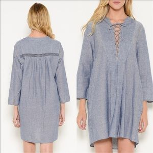 Esley Dresses - 🆕Lace Up Woven Dress From Esley Collection