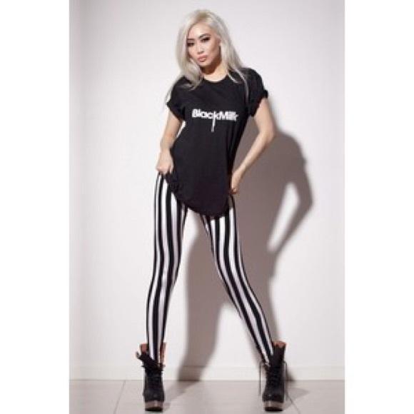 744f8fa596a79 Blackmilk Pants | Beetlejuice Leggings Black Milk Clothing | Poshmark