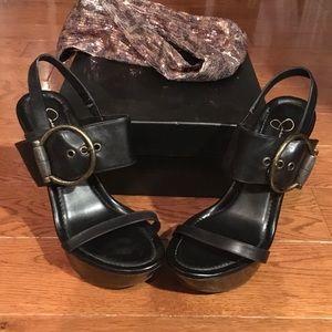 Jessica Simpson Shoes - Jessica Simpson black buckle platform heels