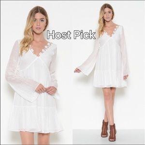 Esley Dresses - 🆕 Romantic Bell Shaped Sleeve V Neck Dress