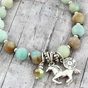 Jewelry - 12GAUGE SHOTGUNSHELL DISK & HORSE STRETCH BRACELET
