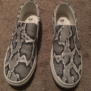 H&M snake skin slide on sneakers