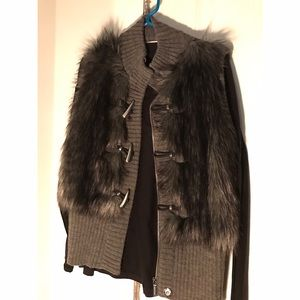 Michael Kors grey fur vest