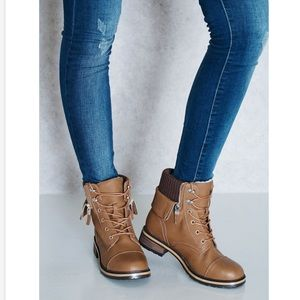 Lined Moto Combat Military Boots