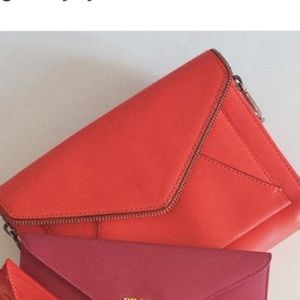Rebecca Minkoff Handbags - Coral red envelop Rebecca minkoff cross body bag