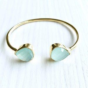 Margaret Elizabeth Jewelry - NWT Margaret Elizabeth Aqua Chalcedony Bangle