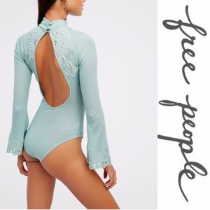 Free People Tops - ❤NWT Free People ripped bodysuit flared cuff