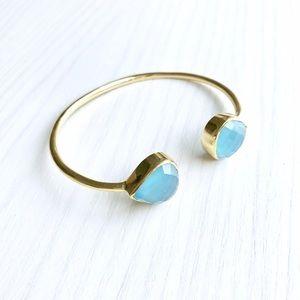 Margaret Elizabeth Jewelry - NWT Margaret Elizabeth Blue Chalcedony Bangle