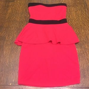 poof couture Dresses & Skirts - Strapless red & black hourglass shaped dress