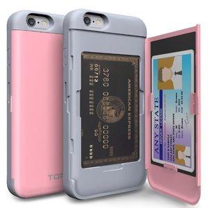 iPhone 6 / 6s phone case w/ Card Holder & Mirror
