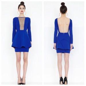 AQ/AQ Dresses & Skirts - ➡New AQ/AQ Faith Blue Peplum Mesh Mini Dress⬅