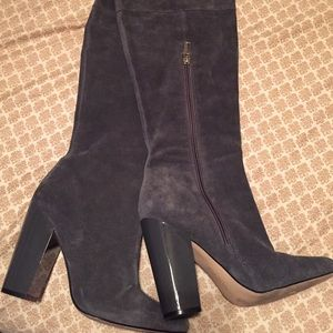 Grey Suede Calvin Klein Boots