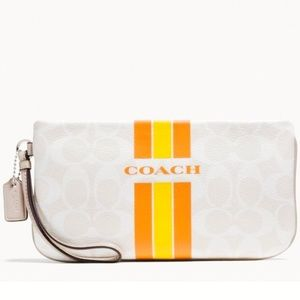 NWT Large Coach Varsity zippered wristlet/wallet