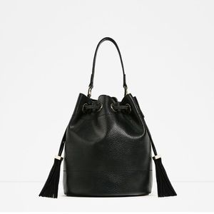 Zara bucket bag with tassels