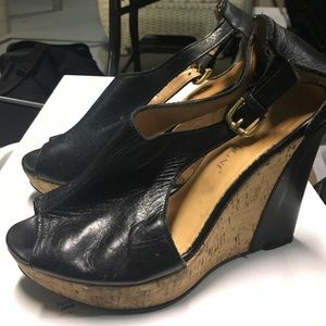 carlo pazolini Shoes - Carlo Pazolini (made in Italy) black leather wedge