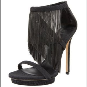 B Brian Atwood Shoes - B Brian Atwood Cassiane Chain Fringe Ankle Strap