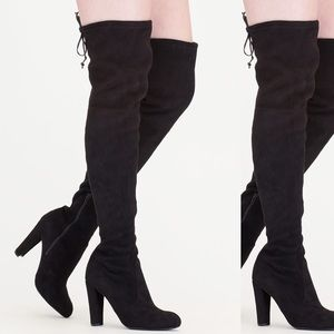 Christian Siriano Shoes - Thigh high Suede heels/boots