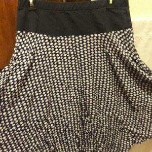 matty m Dresses & Skirts - Blue and white knee length maternity skirt