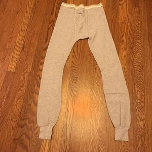 Hanes Other - Men's gray thermal pants