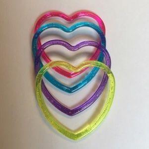 Other - KIDS ASSORTED COLOR HEART BRACELETS