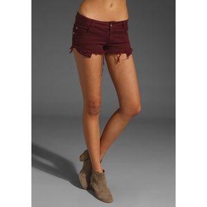 Brandy Melville Burgundy Shorts