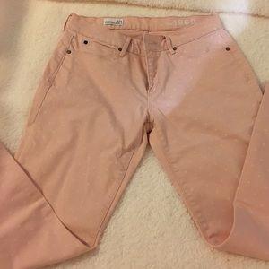 Gap 27P pink polka dot jeans