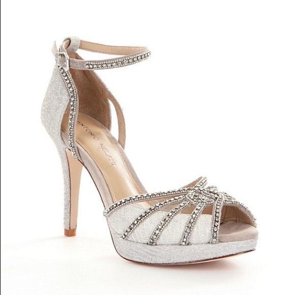 e5980161b1a ANTONIO MELANI Shoes - Antonio Melani Grey Ice Baybette Silver Heels.