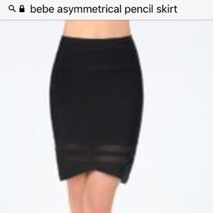 Sexy Bebe skirt with asymmetrical front 💜