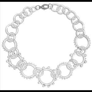 Roxann Slate Jewelry - Glass Statement Wheel Chain Necklace