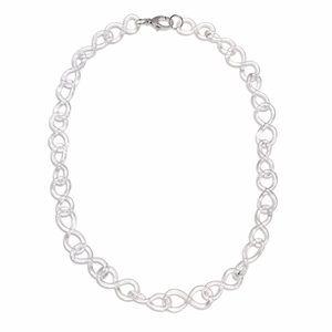 roxann slate Jewelry - Glass Statement Figure Eight Chain Necklace