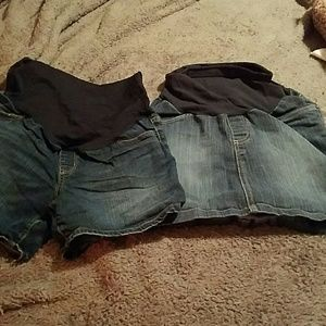 multiple Pants - Maternity denim shorts and skirt size small