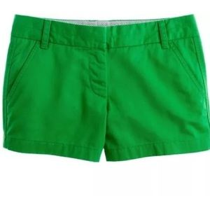 J. Crew Pants - J. Crew Broken-In Chino Shorts Kelly Green Size 00