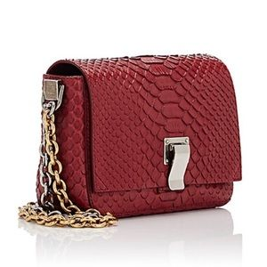 Auth Proenza Schouler Red Python Courier Bag
