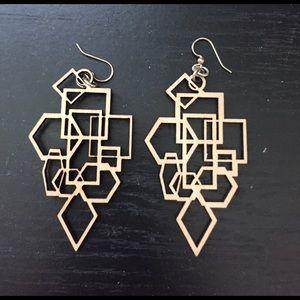 Jewelry - Geometric cut out earrings
