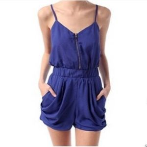 Urban Outfitters Other - Lucca Couture black romper with gold zipper