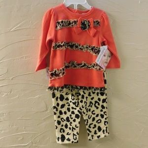 Baby Essentials Other - Baby Essentials Leopard Print Outfit