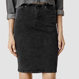 All Saints Skirts - Allsaints high waisted denim washed skirt.