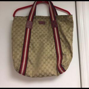 Gucci Handbags - Gucci Canvas Bag