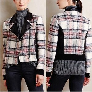 Anthropologie Jackets & Blazers - Paige Plaid Moto Jacket