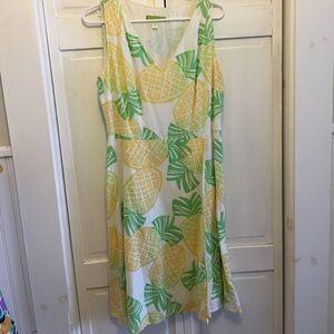 Sigrid Olsen Dresses & Skirts - Sigrid Olsen Size 8 Pineapple Dress