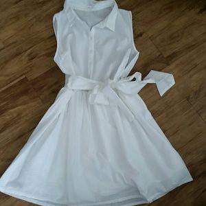 peach love california Dresses & Skirts - PEACH LOVE CALIFORNIA seersucker  white dress