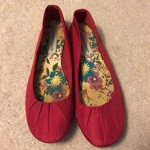 Predictions Shoes - Predictions pink women's flats size 7