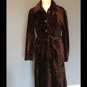 Jackets & Blazers - Faux sheerling coffee color coat