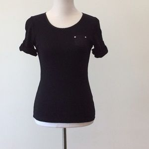 august silk Tops - Black Top Size S