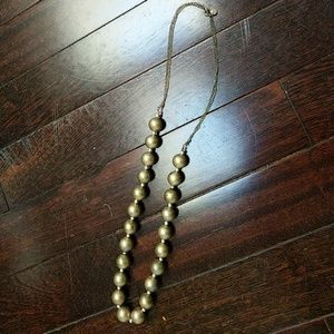 LOFT gold beaded long necklace
