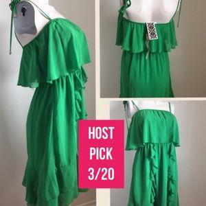 Ya Los Angeles Dresses & Skirts - Green ruffle dress by Ya Los Angeles