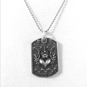 King Baby Studio Jewelry - King baby large relic dog tag and chain 925 silver