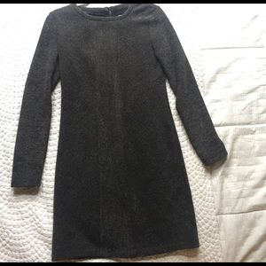 Lou & Grey (Loft) Gray Sweater Dress Long Sleeves