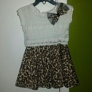 Sweet Heart Rose Other - Leopard print toddler dress